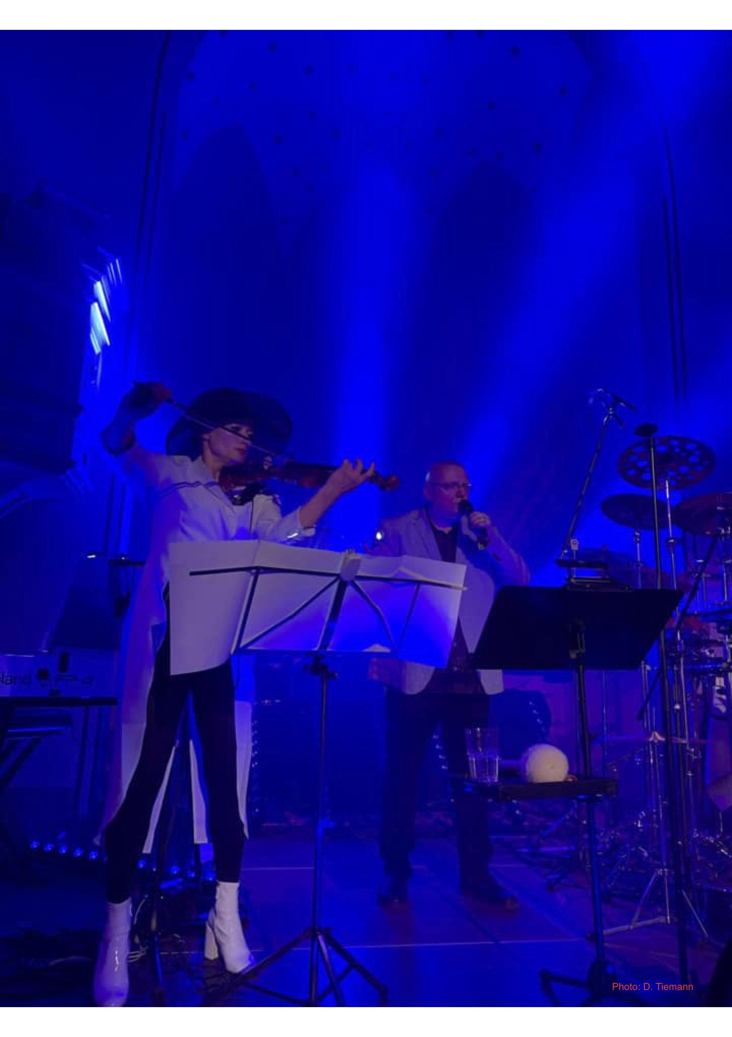 Blaue Geige
